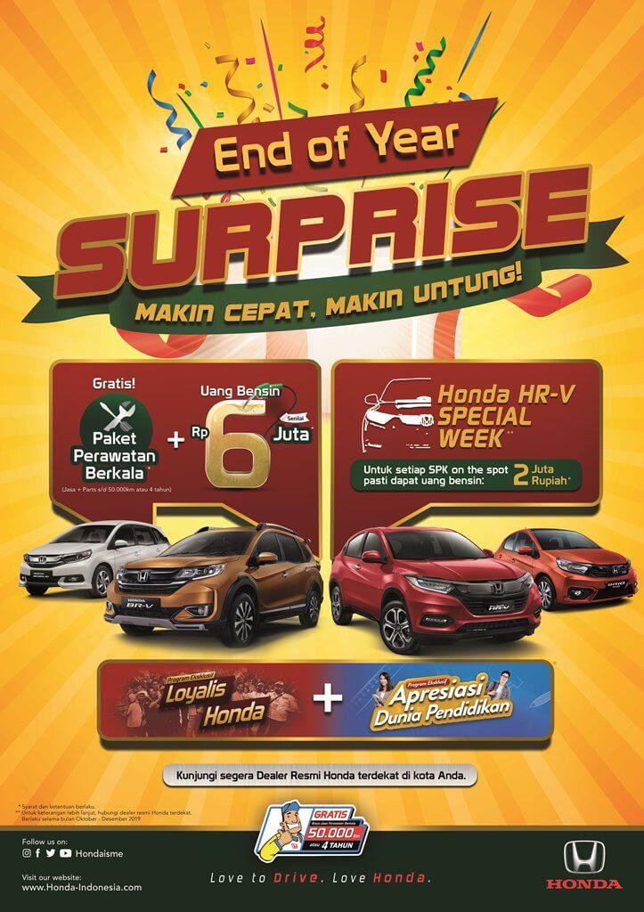 promo akhir tahun mobil honda